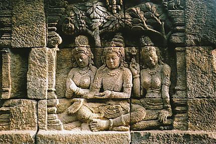 Fresques de Borobudur