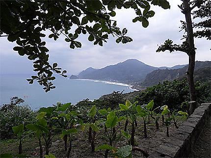 Belle vue sur le Pacifique et la baie de Jici