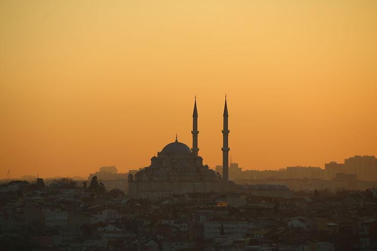 Coucher de soleil depuis la tour Galata, Istanbul