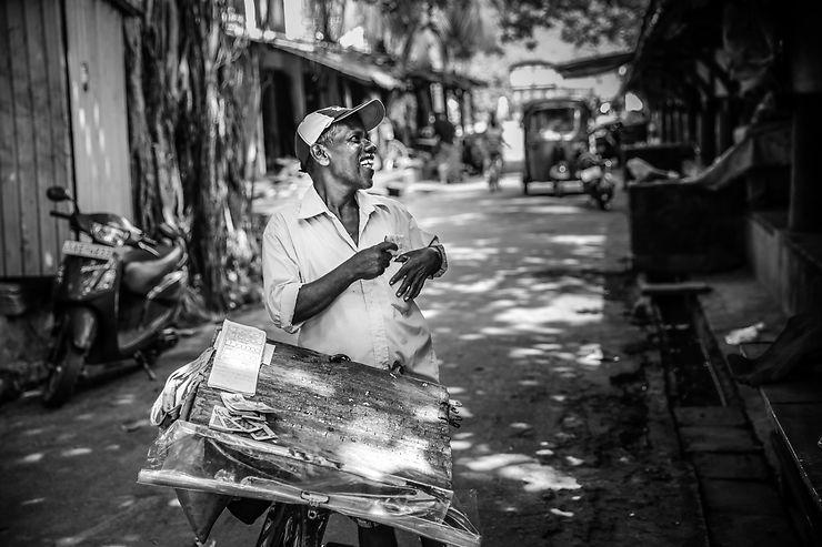 Lottery ticket salesman, Sri Lanka