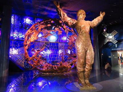 Entrée du musée avec Gagarine