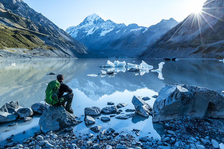 In love with Mount Cook, Nouvelle-Zélande