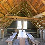 Intérieur d'une cabane de pêcheurs à Nymindegab