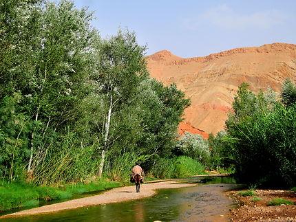 La route au milieu de la rivière