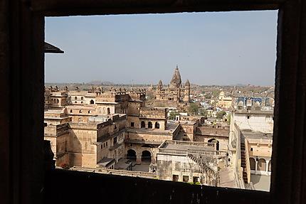 Orchha vue depuis Jehangir Mahal