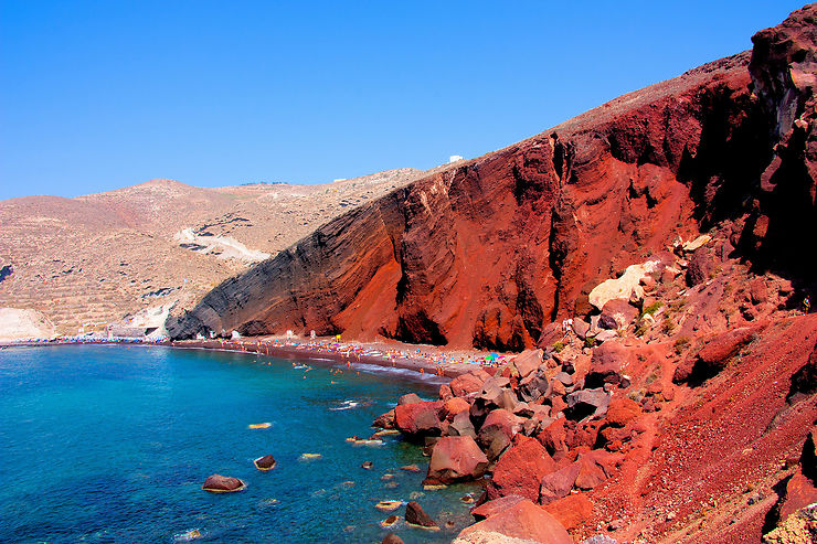Les plages de Santorin
