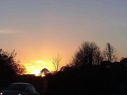 Coucher de soleil en approche de Lorient