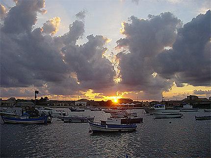 Coucher de soleil à Marzamemi