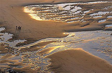 Plage à marée basse sur la Côte d'Opale