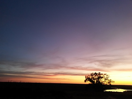 Couché du soleil, outback NSW, menindee