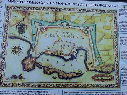 Carte du Port de la Canée