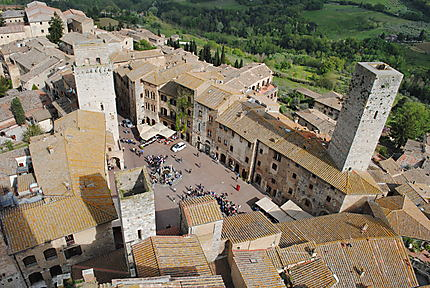 Vue sur San Gimignano