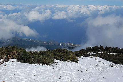Les crêtes entre le Pico della Nieve et les Roque de los Muchachos