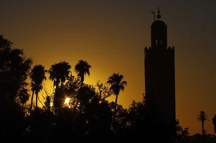 Minaret de la Koutoubia au couchant