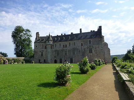 Château de la Roche-Jagu depuis les jardins