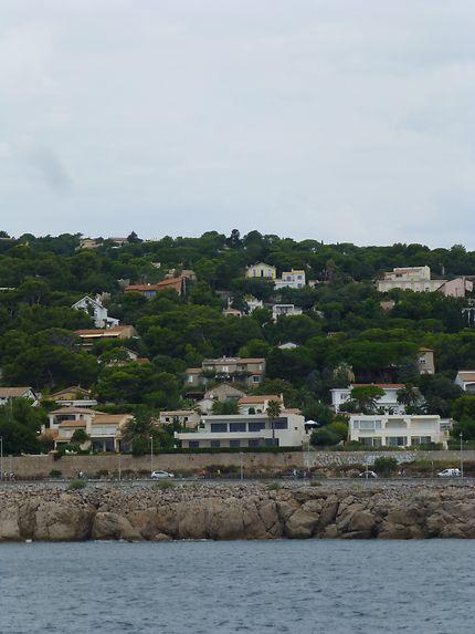 Villas dans la colline, Sète