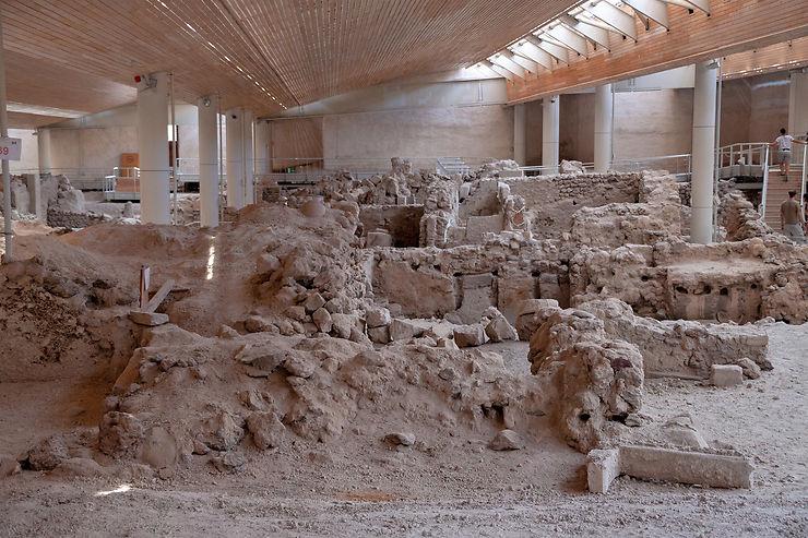 Le site archéologique d'Akrotiri, la Pompéi des Cyclades