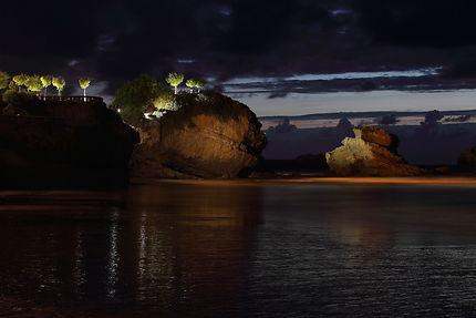 Au crépuscule à Biarritz