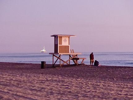 Poste de surveillance sur Sunset beach