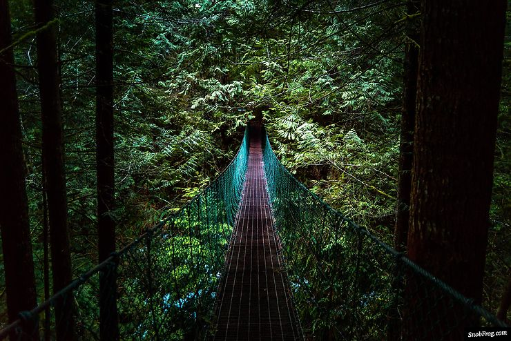 Suspension bridge to Mystic Beach, Vancouver