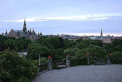 Vue aérienne de Stockholm depuis Skansen