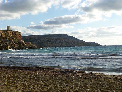 Fin de journée à Golden Bay, Malte