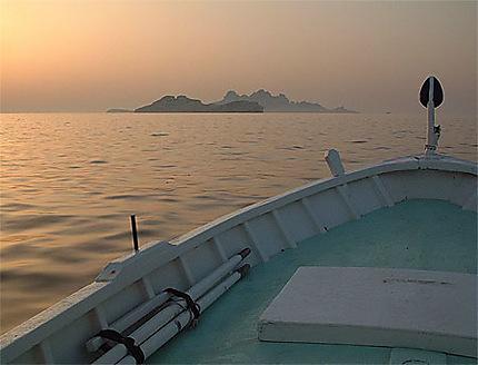 Aurore sur l'archipel de Riou