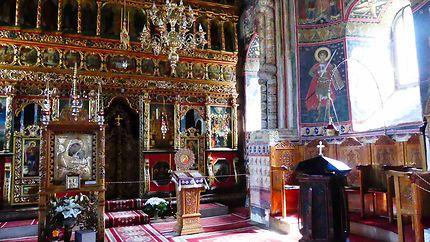 Monastère Dragomirna , à l'intérieur