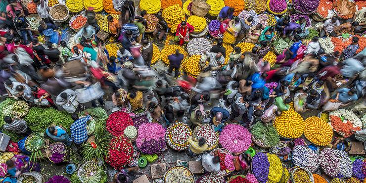 Marché aux fleurs, Bangalore, Inde