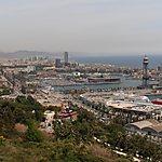 Vue depuis le sommet de Montjuïc