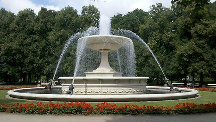 La fontaine du jardin Saski à Varsovie