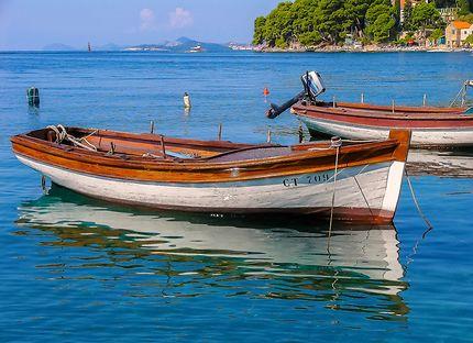 Petits bateaux de pêche à Cavtat