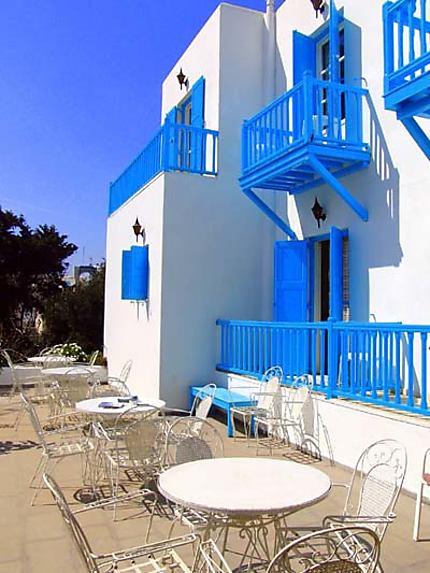 Terrasse à Mykonos