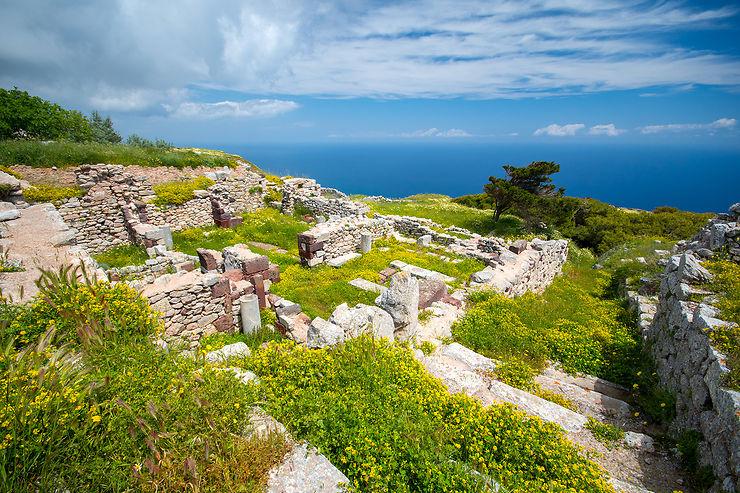 Le site archéologique perché de l'ancienne Thera