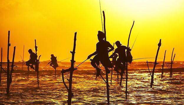 Sri Lanka Pêcheurs près de Galle