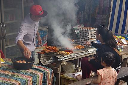Street food à Pakbeng