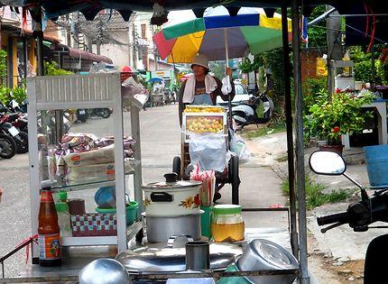 Vendeur ambulant à Pattaya, Thaïlande
