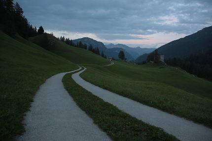 Chemin suisse à Splugen