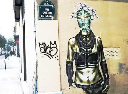Fresque murale au 37 rue Guérin Boisseau