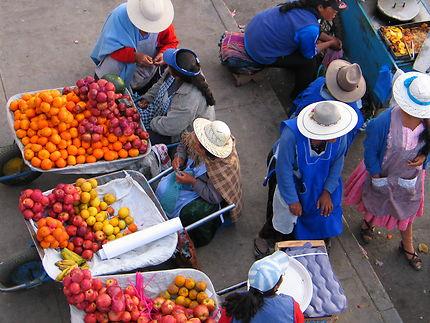 étalage de fruits à Potosi