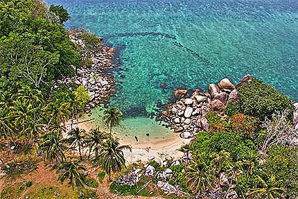 Vue depuis le phare de Lengkuas island