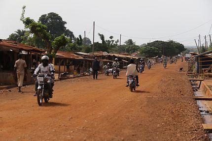 Route au Togo à Atakpamé