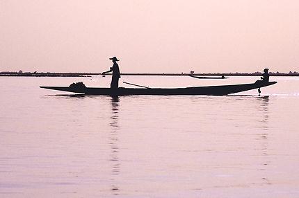 Mali, pêcheur à Mopti