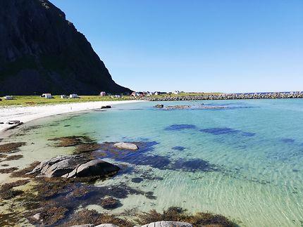 Plage à Eggum, îles Lofoten
