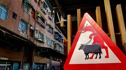 Route dangereuse à Taichung