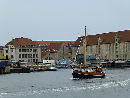 Bateau en bois dans Copenhague