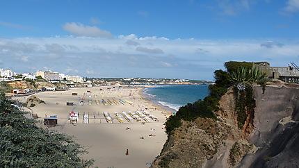 Vue de la plage de Praia da Rocha
