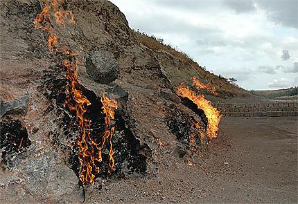 Poche de gaz dans la roche