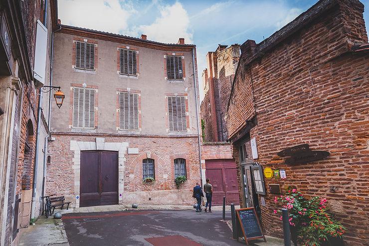 Albi, dans la rue où est né Toulouse-Lautrec