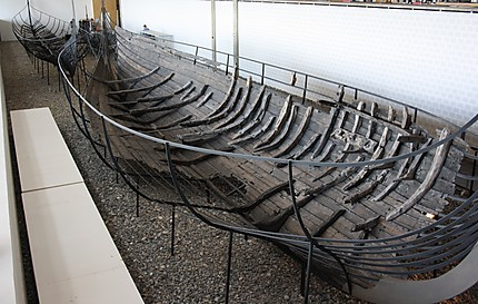 Vestige d'un bateau Viking